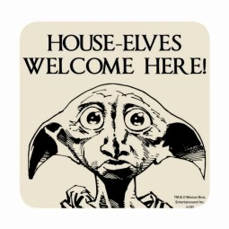 Harry Potter Dobby House Elves Welcome Here Coaster