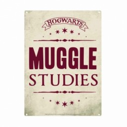 PRE ORDER Harry Potter Muggle Studies Small Tin Sign