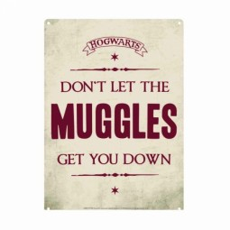 PRE ORDER Harry Potter Don't Let The Muggles Get You Down Small Tin Sign