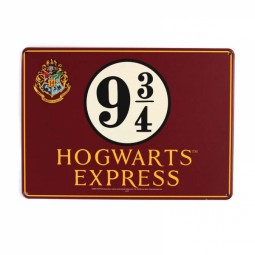 Harry Potter Platform 9 3/4 Small Metal Sign