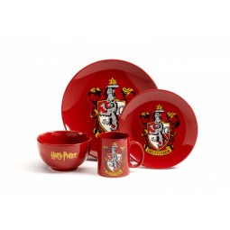 Harry Potter Gyffindor  4 Piece Dinner Set