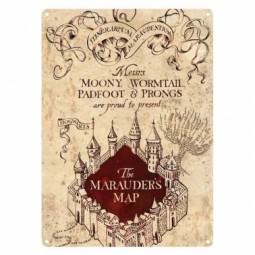 Harry Potter Marauders Map Small Metal Sign