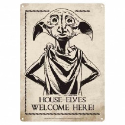 Harry Potter Dobby Small Metal Sign
