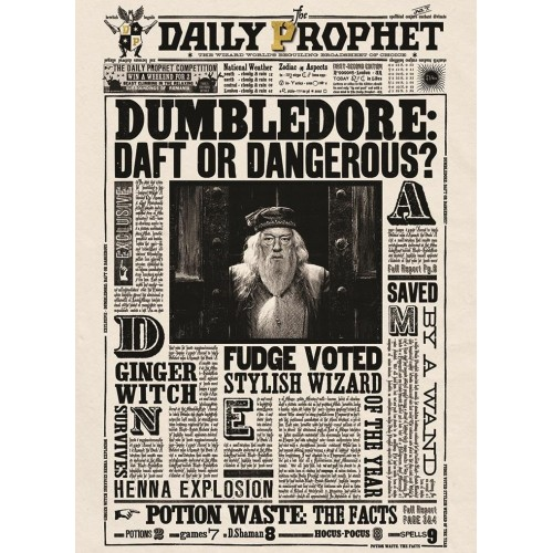 Mina Lima Dumbledore Daft or Dangerous Lenticular Card