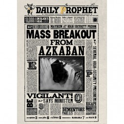Mina Lima Mass Breakout from Azkaban Lenticular Notecard