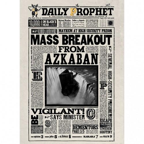 Mina Lima Mass Breakout from Azkaban Lenticular Notecard