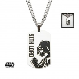 Star Wars Stainless Steel Rogue One Darth Vader/Galactic Empire Symbol Dog Tag