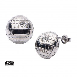 Star Wars Stainless Steel Death Star Stud Earrings