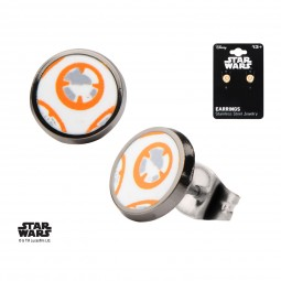 Star Wars Stainless Steel Episode 7 BB-8 Droid Stud Earrings