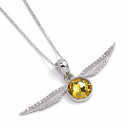Harry Potter Swarovski Embellished Golden Snitch Necklace