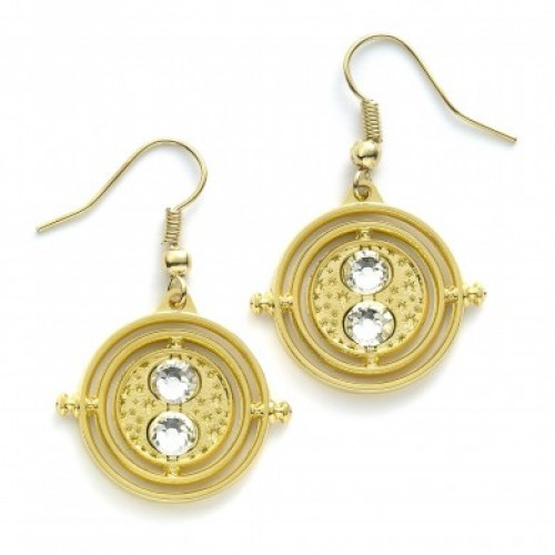 Harry Potter Time Turner Plated Earrings