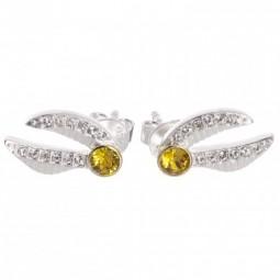 Harry Potter Swarovski embellished Golden Snitch Earrings Sterling Silver