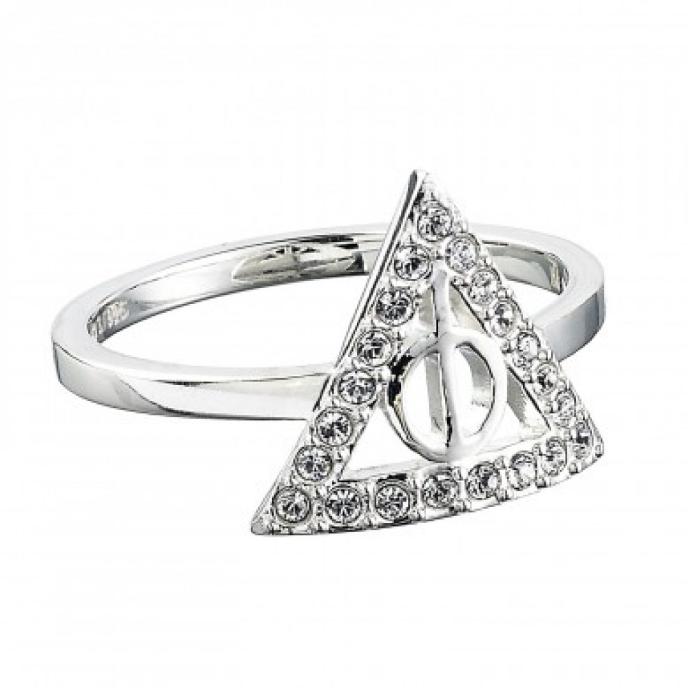 dff0ff3824b65 Harry Potter Deathly Hallows Ring Sterling Silver with Swarovski ...
