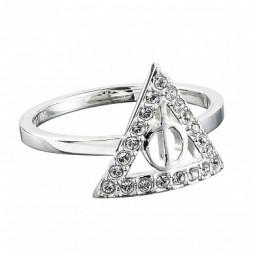 Harry Potter Swarovski embellished Deathly Hallows Ring Sterling Silver