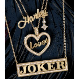 DC Harley Love Joker Necklace Set