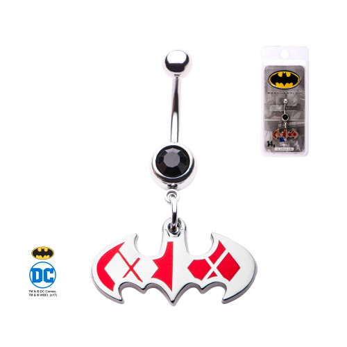 DC Batman Harley Quinn Navel Bar