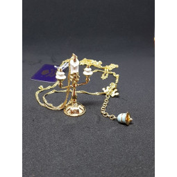 Disney Couture Beauty & the Beast Gold Plated Lumiere Necklace
