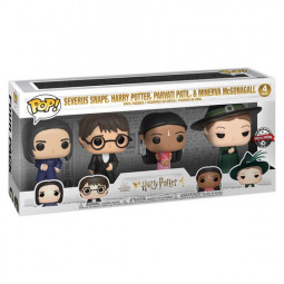 Harry Potter 4 Pack of Pop Funkos Snape,Harry,Parvati and Minerva