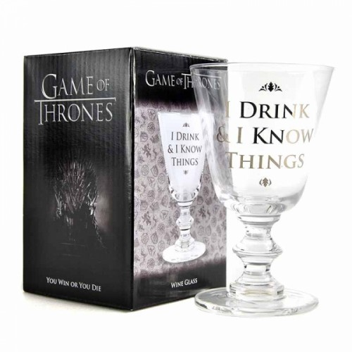 Game of Thrones Wine Glass I Drink & I Know Things