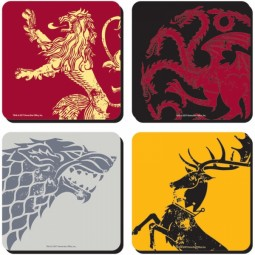 Game of Thrones Coasters Set of 4 Sigils