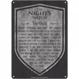 Game of Thrones Tin Sign Nights Watch
