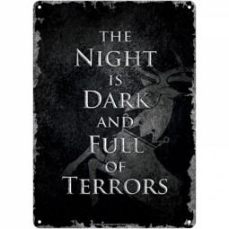 Game of Thrones Tin Sign Night is Dark