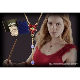 Harry Potter Hermione's Red Crystal Necklace