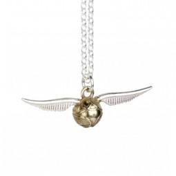 Harry Potter Sterling Silver Snitch Necklace