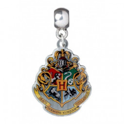 Harry Potter Slider Charm Silver Plated Hogwarts Crest