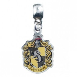Harry Potter Slider Charm Silver Plated Hufflepuff Crest