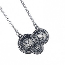 Harry Potter Silver Plated Gringott Coin Necklace