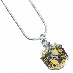 Harry Potter Silver Plated Hufflepuff Necklace