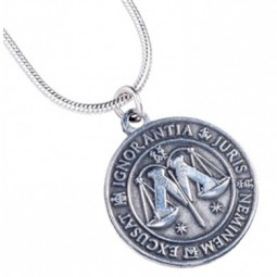 Harry Potter Silver Plated Ministry of Magic Necklace