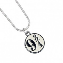 Harry Potter Silver Plated 9 3/4 Necklace
