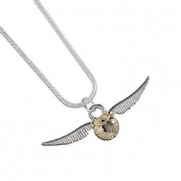 Harry Potter Silver Plated Golden Snitch Necklace
