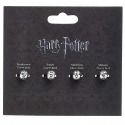 Harry Potter Silver Plated Spell Bead Charm Set