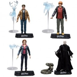 PRE ORDER SET OF HARRY POTTER ACTION FIGURES Harry,Hermione,Ron & Voldemort