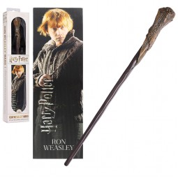Harry Potter Noble Collection Ron Weasley Toy Wand with Lenticular Bookmark