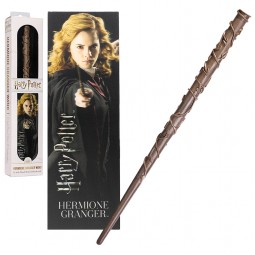 Harry Potter Noble Collection Hermione Granger Toy Wand with Lenticular Bookmark