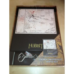 "Hobbit Thorin Oakenshield Map & Key 8"" x 10"""