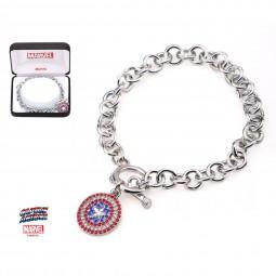 Marvel Captain America Charm Bracelet
