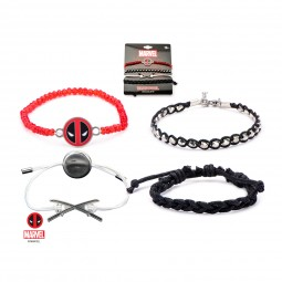 Marvel Deadpool Bracelet Set