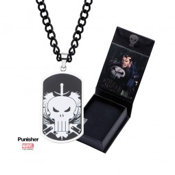 Marvel Punisher Skull Dog Tag Pendant