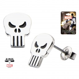 Marvel Punisher Skull Stud Earrings