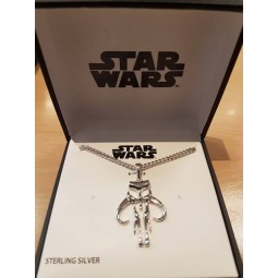 Star Wars Sterling Silver Mandalorian Pendant