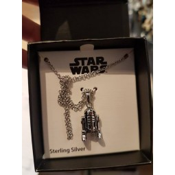 Star Wars Sterling Silver R2-D2 Necklace