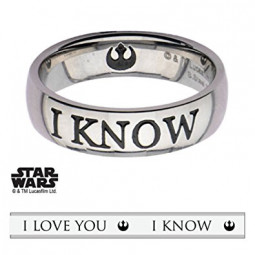 Star Wars I Love You,I Know Ring