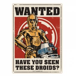 Star Wars Tin Sign Droids