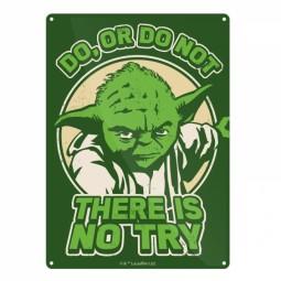 Star Wars Tin Sign Yoda