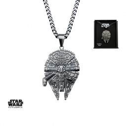 Star Wars Stainless Steel Millennium Falcon Pendant